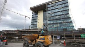 The Central Bank's new HQ under construction on North Wall Quay. Photo: Damien Eagers