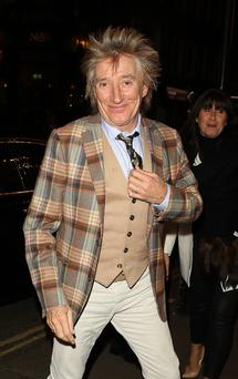 Rod Stewart donating money to the fund set up for the tragic Rangers fan who died Photo: Getty
