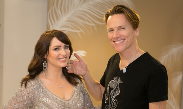 Grainne with designer Don O'Neill