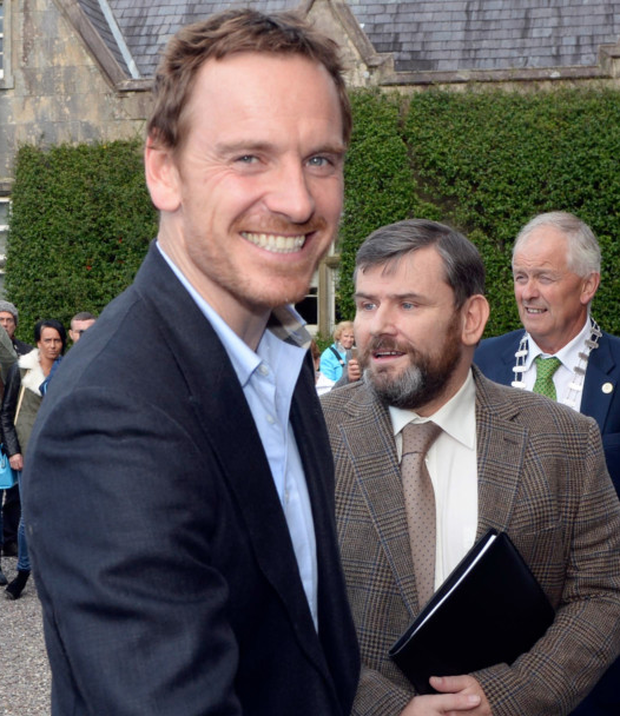 Hollywood actor Michael Fassbender arrives at Muckross House, Killarney, to be honoured by his hometown