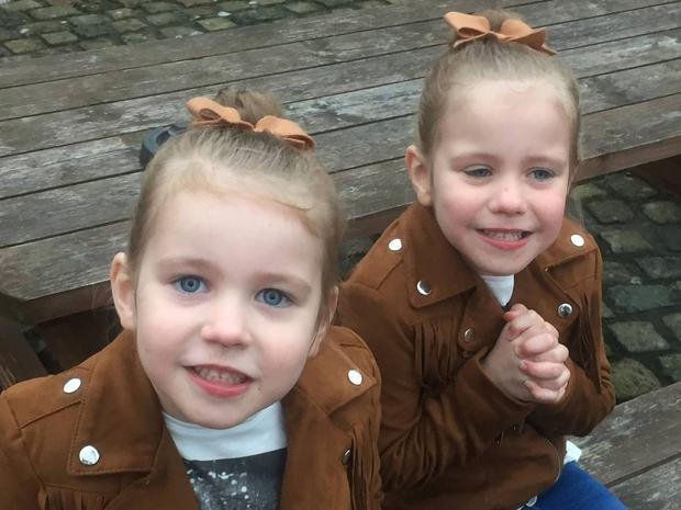 Twins Layla and Leah from Coolock, Co.Dublin