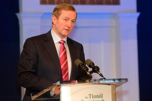 Taoiseach Enda Kenny at the Citizens Assembly at Dublin Castle. Photo: Justin Farrelly.