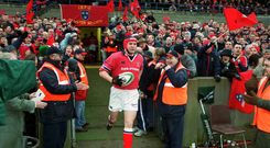 Anthony Foley leads out Munster at Thomond Park in 2003. Photo: Pat Murphy