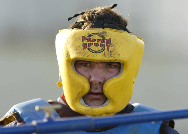 Anthony Foley pictured during Munster rugby squad training in 2005