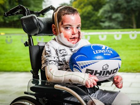 """Liam was """"overjoyed"""" when he was named as Leinster's mascot"""