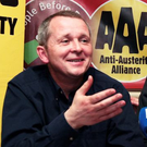 Anti-Austerity Alliance-People Before Profit (AAA-PBP) TDs Richard Boyd Barrett and Paul Murphy have plenty to smile about following the latest poll. Photo: Tom Burke