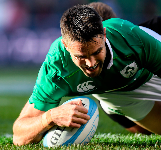 Conor Murray going over for Ireland's third try Photo: Sportsfile