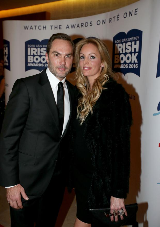 Jason McAteer with his wife Lucy Edwards. Photo: Mark Condren