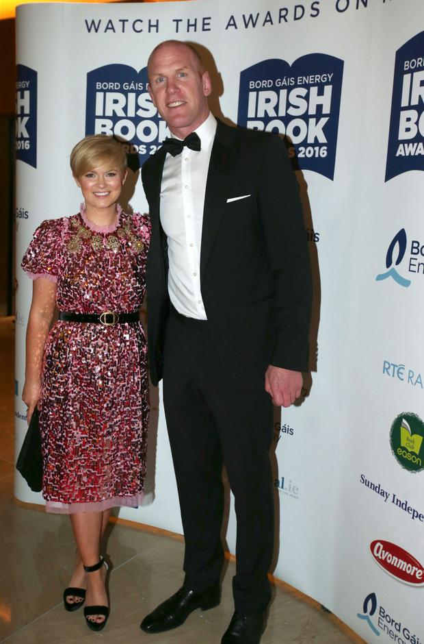 Cecelia Ahern and Paul O'Connell. Photo: Mark Condren