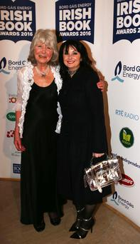 Bestselling authors: Riders author Jilly Cooper with Marian Keyes at the Irish Book Awards