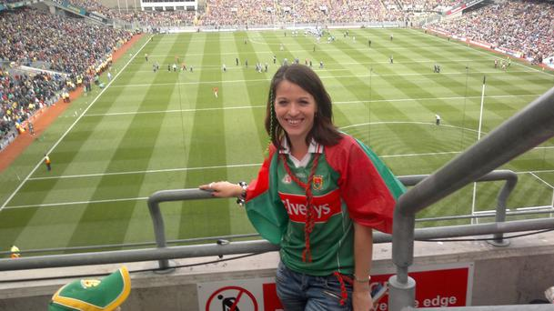 Majella Donoghue supporting her county at Croke Park