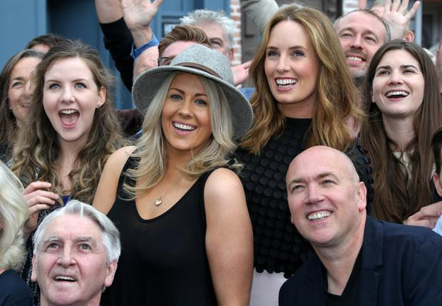 'Fair City' cast members celebrate the 4,000th episode of the show Picture: Collins