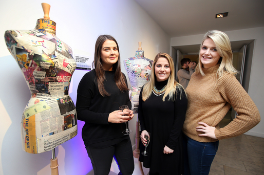 Eavan Murray, Claire McElligott and Sarah Harris all from CARAT pictured at the 'Book of Evidence' event at the RHA Gallery last night. Photo: Steve Humphreys