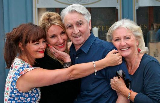 The cast of RTÉ's Fair City pictured on the set of the show Photo: Colin Keegan, Collins Dublin.