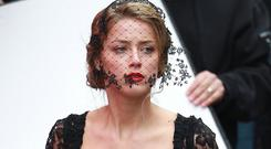 Amber Heard in her role as Nicola Six in 'London Fields', the movie adaptation of Martin Amis's novel, which has been repeatedly jinxed by production rows