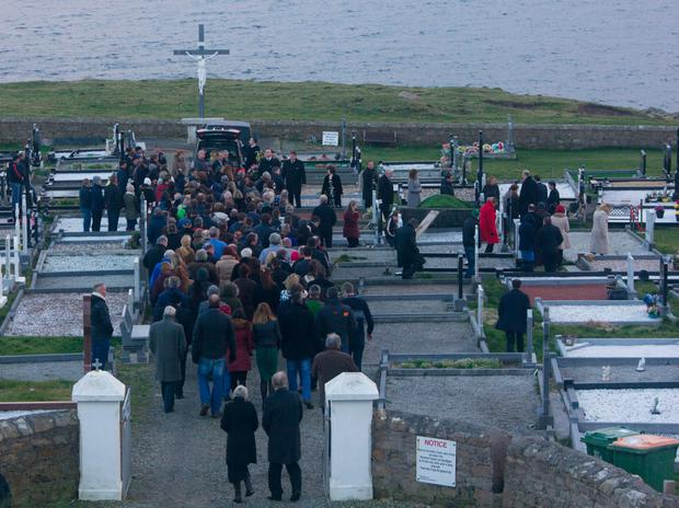 Funeral of Majella Donoghue on the Erris Peninsula, Co. Mayo,