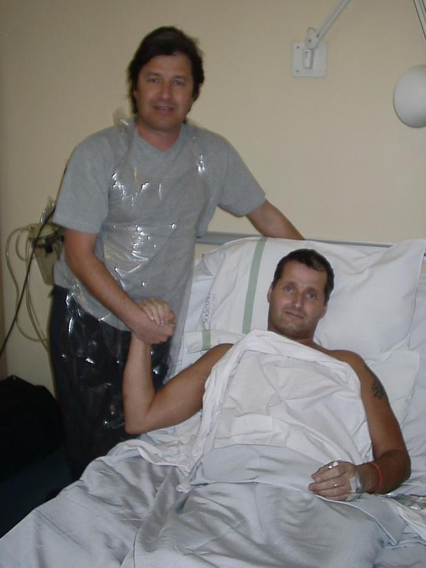 David with his brother John who took care of him during the ordeal