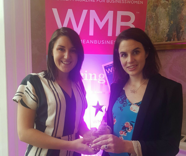 Iseult Ward and Aoibheann O'Brien are winners of WMB (Women Mean Business) Magazine Social Entrepreneur of the Year Award
