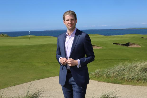 Eric Trump at his father's hotel and golf course in Doonbeg, Co Clare. Photo: Press 22