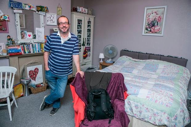 Robbie Donnelly in his Room in Hugh's House in Belvedere Place