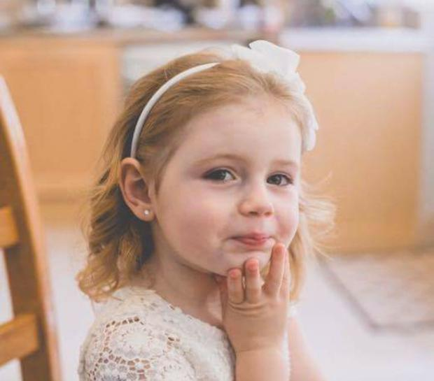 Three-year-old Emily Duffy from Celbridge, Co Kildare was diagnosed with cancer