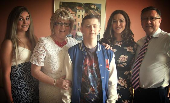John and Margaret Foley with children Conor, Emma and Rachel