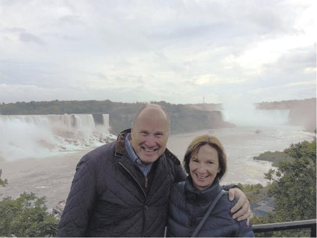 Deirdre and Ivan Yates at Niagara Falls