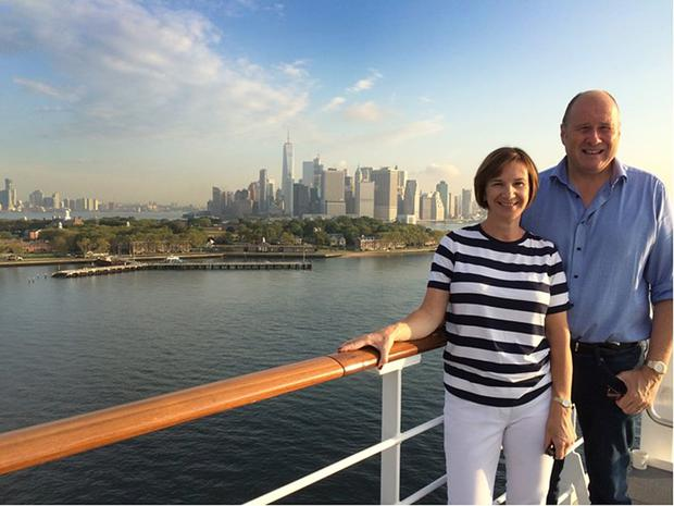 Ivan and Deirdre on their grand tour of the USA. The couple are pictured here in New York