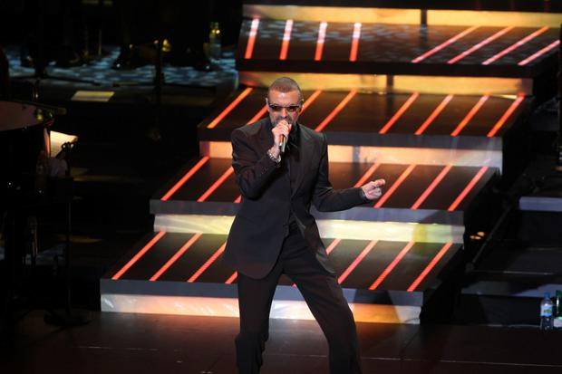George Michael singing during his last concert here in 2011 Picture: Collins