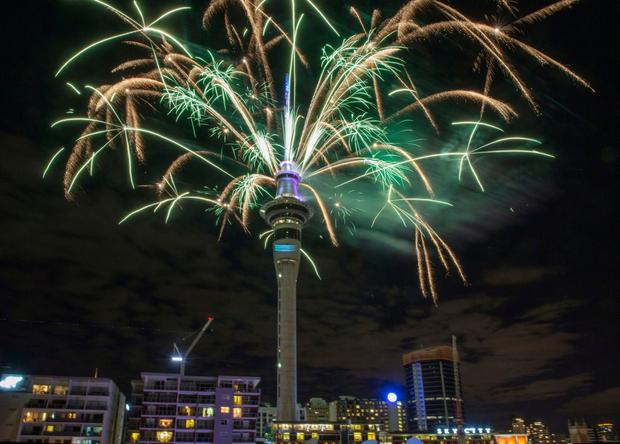 New Year celebrations at Sky Tower in Auckland, New Zealand Picture: The New Zealand Herald