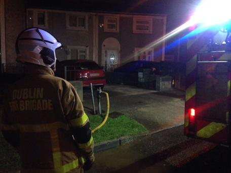 Dublin Fire Brigade attended to four vehicle fires last night Photo: DFB Twitter
