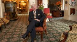 Hotelier Francis Brennan in the Park Hotel Kenmare in Co Kerry Photo: Don MacMonagle