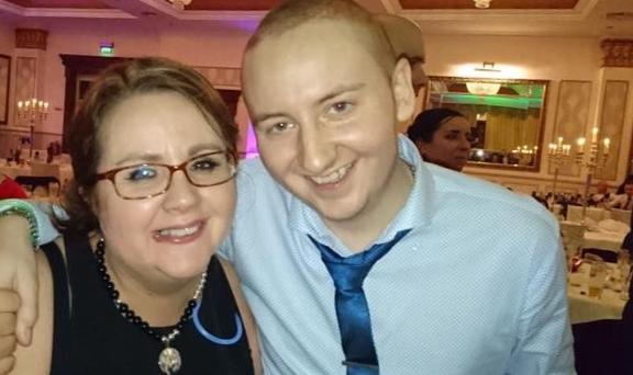 Dolores with her son Elliot (20) who passed away from cancer
