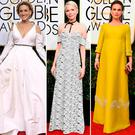 (L to R) Sarah Jessica Parker, Michelle Williams, Natalie Portman, Kristen Bell and Kerry Washington at the 2017 Golden Globes