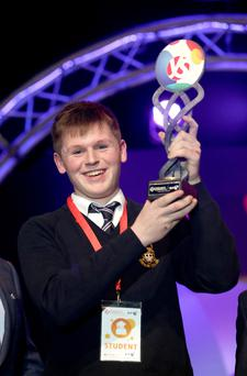BT Young Scientist of the Year Shane Curran, from Terenure College in Dublin. Photos: Gerry Mooney