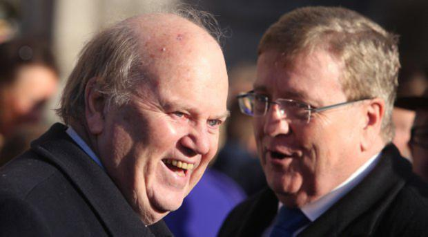 Michael Noonan, left, Minister for Finance and Pat Breen, Minister for employment, were in attendance. Photo: Damien Eagers