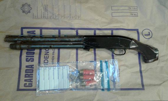 The firearm and ammunition seized by gardai in Finglas