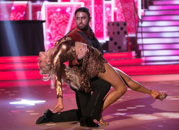 Hughie Maughan with his partner