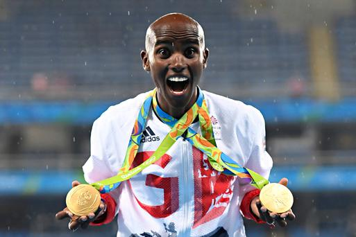 Olympian Mo Farah. Photo: AFP/Getty Images