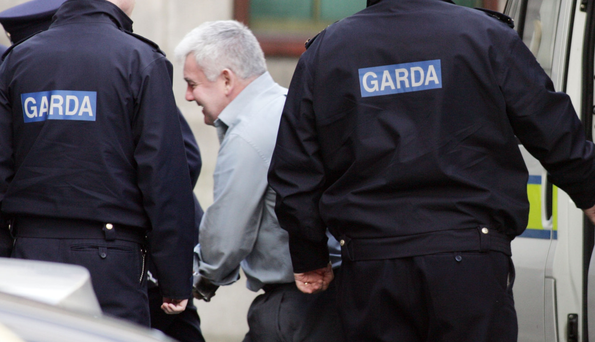 John Gilligan arrives in court from prison in 2008 to challenge the CAB's seizure of Jessbrook