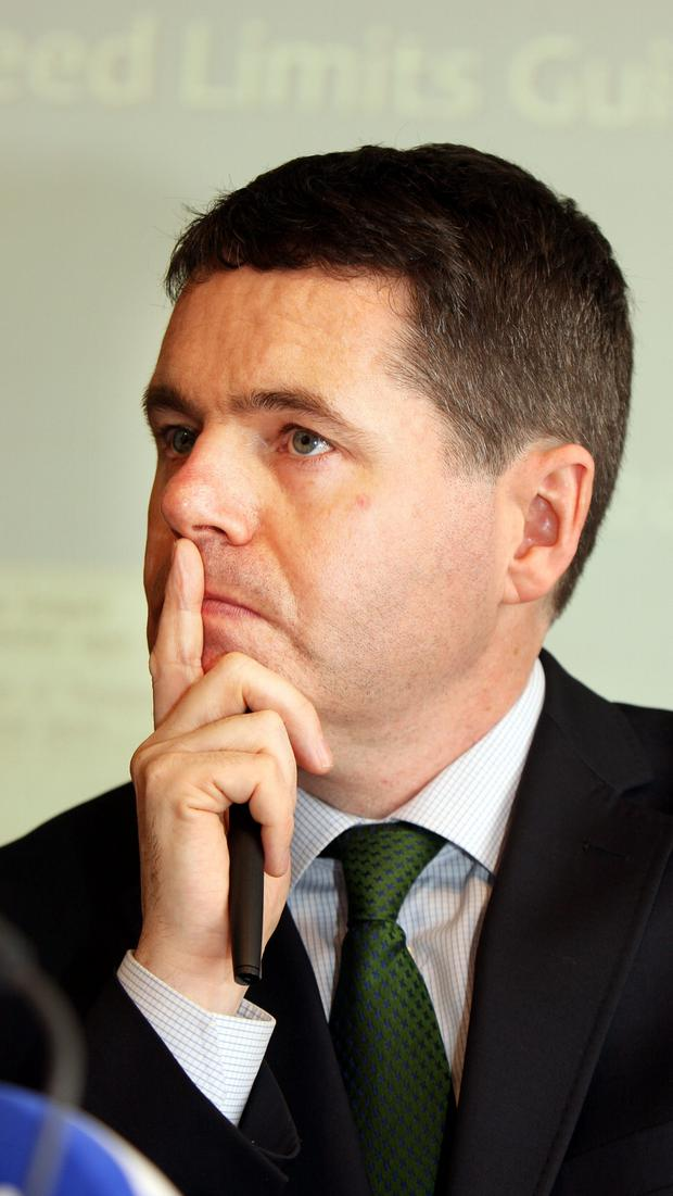 Paschal Donohoe during his stint as Transport Minister in 2015. Photo: Tom Burke