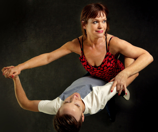 Teresa Mannion with her dancing partner John Nolan during rehearsals for Dancing with the Stars Photo: Gerry Mooney