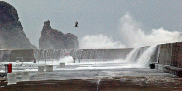 Howth Coast Guards are warning the public about the dangers of piers during stormy weather Photo: Howth Coast Guard