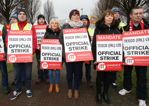 Strike Continues At Tesco In Tullamore
