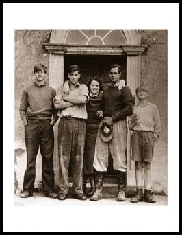 The Bielenberg family pictured at their home near Tullow, Co Carlow in the 1950s. Christabel with John, Nick, Peter and Christopher.