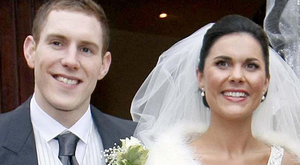 Couple: John McAreavey and wife Michaela McAreavey on their wedding day