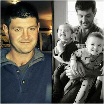 Sean with his twin boys Harry and Ralph