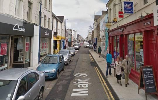 A man has died following an accident on Main Street, in Larne, Co Antrim,