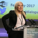 Sinn Féin leader in Northern Ireland Michelle O'Neill speaking at the All-Island Civic Dialogue on Brexit at Dublin Castle, last week. Photo: Damien Eagers