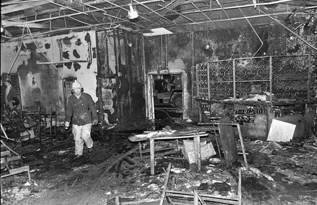 The interior of the Stardust which went on fire in the early hours of St Valentines Day ,1981. Photo: Independent Newspapers